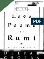 19611546 the Love Poems of Rumi Translated by Deepak Copra
