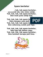Lagu Ayam Bertelur