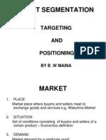 Market Sgmentation b. w Maina[Presentation]
