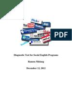 Diagnostic Test for Social English Programs