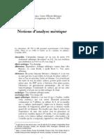 Notions d'Analyse Métrique (revu 12-2009) Benoît de Cornulier