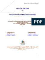 479. Research Study on Electronic Retailing
