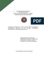 ESTUDIO GEOLÓGICO Y EVALUACIÓN DEL YACIMIENTO
