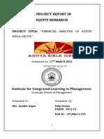 Er Project Report in Aditya Birla