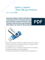 Como Recuperar y Reparar Memorias Flash USB Que Windows No Reconoce