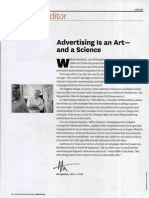 Advertising is and Art and a Science