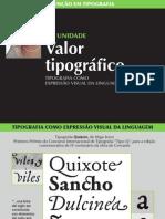 Aula 1 Valor tipográfico