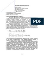 Solution of the Partial Differential Equations