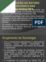 Introdução ao Estudo Sociológico das Organizações
