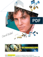 David Bisbal, Su destino, su futuro y sus secretos desvelados en su Horoscopo Astral