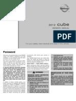 2012 Cube Owner Manual
