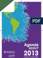 Agenda 2013 Scout Linea Dos Tintas