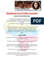 Reglamento Foro Yuridia Venezuela