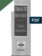 DSM IV TR Breviario 1