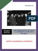 Sousa - Las purgas del PC(b) de la URSS durante la década de 1930 (2001)