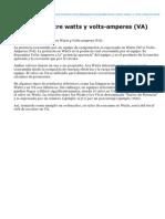 Diferencia Entre Watts y Volts-Amperes (VA)