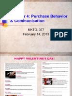 Chap. 4 - Purchase Behavior 2-14-13