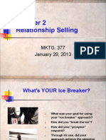 Chapter 2 - Relationship Selling 1-29-13