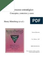 El proceso estratégico. Henry Mintzberg y Brian Quinn