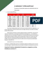 Sortări şi subtotaluri  în Microsoft Excel