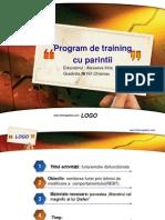 Program de Training Cu Parintii