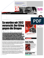 Drogen - So Wurden Wir 2012 Verarscht - Der Krieg Gegen Die Drogen - Www.seite3.Ch