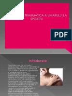 Patologia Traumatica a Umarului La Sportivi