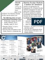Modesto City Schools Calendar