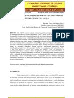 VIVENCIANDO AS PRÁTICAS EDUCACIONAIS EM UM LABORATÓRIO DE INFORMÁTICA DE UMA ESCOLA