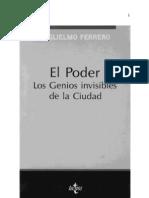 FERRERO Guglielmo - El Poder. Los Genios Invisibles de La Ciudad