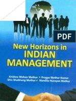 New Horizon in Indian Management