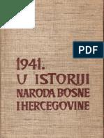 1941. u Istoriji Naroda BIH