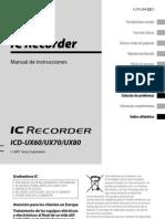 Grabadora Digital Sony ICD-UX70