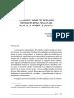 Estudio Preliminar Del Mobiliario Metalico de Epoca Romana Del Solar de La Moreria de Sagunto