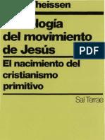 Gerd Theissen-Sociología del movimiento de Jesús