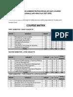 MBA Syllabus
