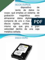 Presentación de discos duros
