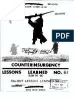 Lessons Learned 1961