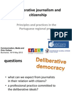 Deliberative Journalism and Citizenship