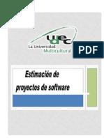 EstimacióndelproyectodeSoftware