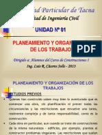 Unidad No 01 Planeamiento y Organizacion de Una Obra