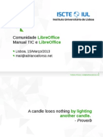 Comunidade LibreOffice Portugal + Manual Aberto de TIC e LibreOffice