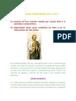Novena a San Judas Tadeo Desdel Dia 1 a Dia 9