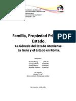 La Gens, El Estado Ateniense y en Roma