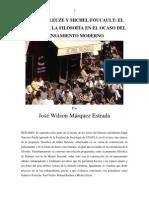 José Márquez - Deleuze y Foucault