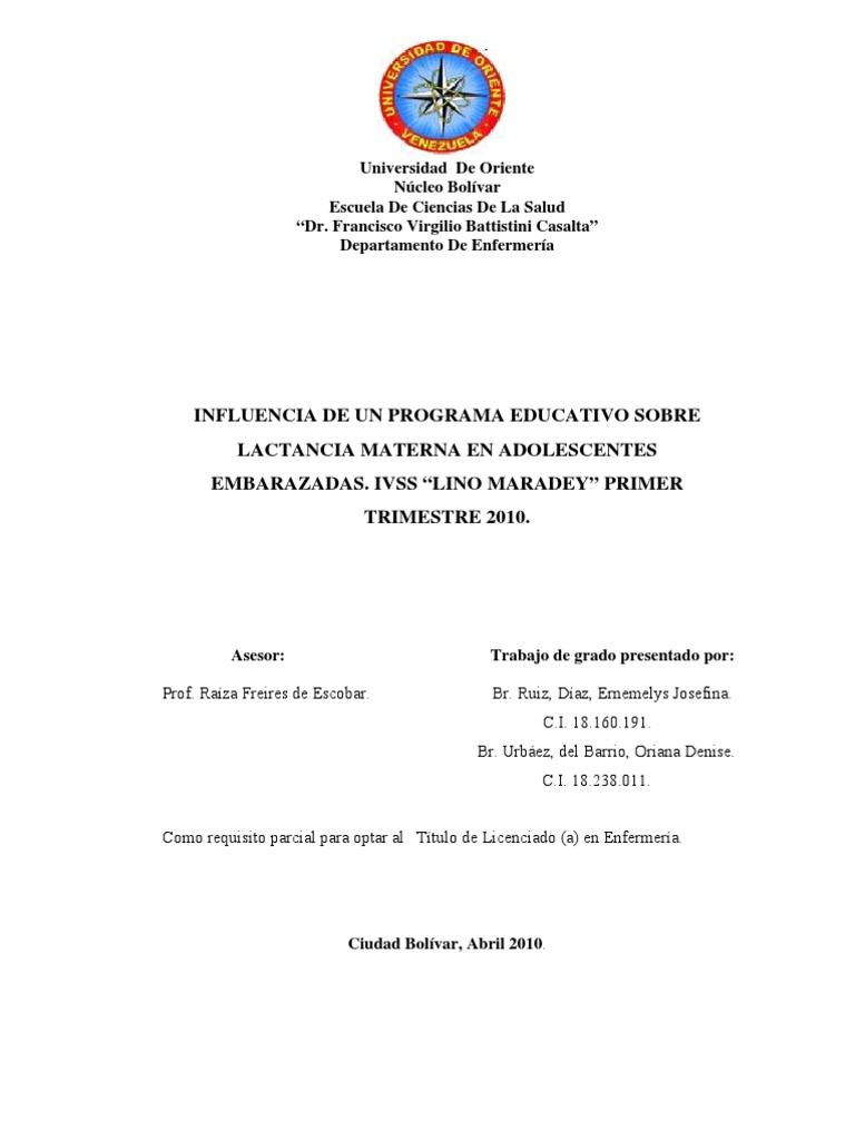 03-Tesis.influencia de Un Programa Educativo Sobre Lactancia Materna