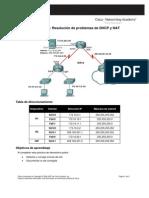 Actividad de PT 7.4.3 Resolución de problemas de DHCP y NAT
