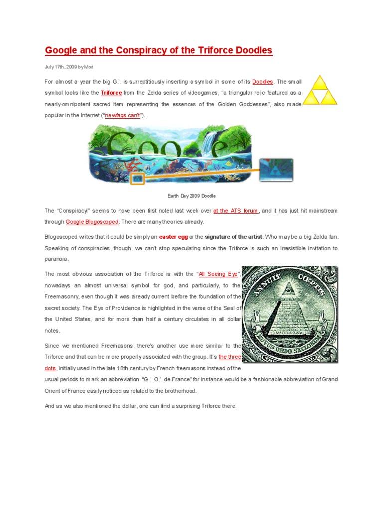 Google And The Conspiracy Of The Triforce Doodles Nikola Tesla