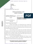 99-1 - Gingras Dec. Re Default Judgment