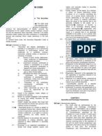 Securties Regulation Code